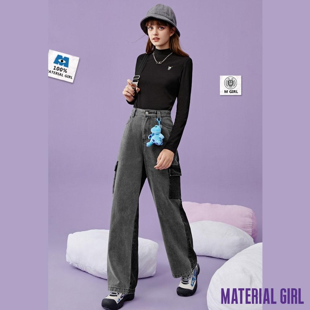 MATERIAL GIRL 小怪獸刺繡半高領上衣【冬季新品】-A41176