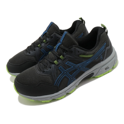Asics 慢跑鞋 Gel Venture 8 4E 男鞋 亞瑟士 超寬楦 野跑鞋 避震 緩衝 耐磨 黑 藍 1011A826003