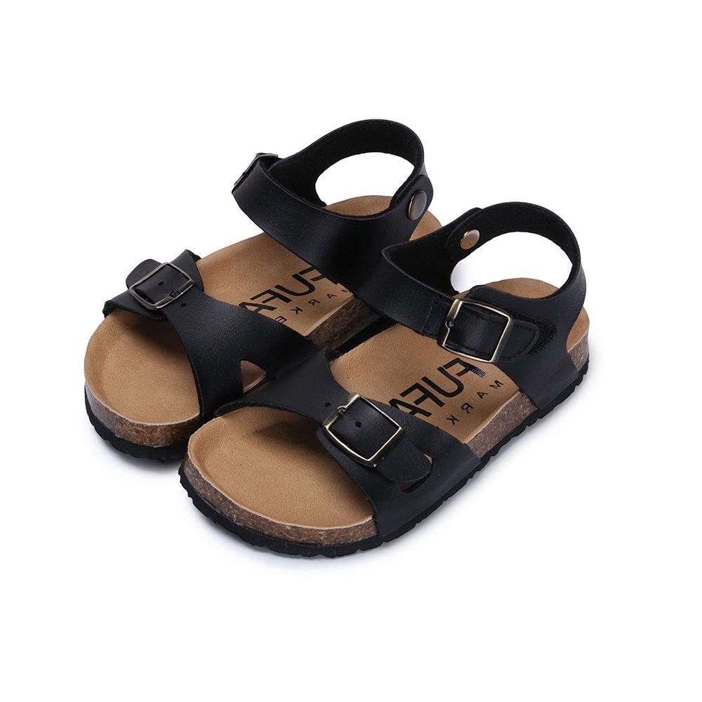 BuyGlasses 休閒雙扣環兒童涼鞋-黑
