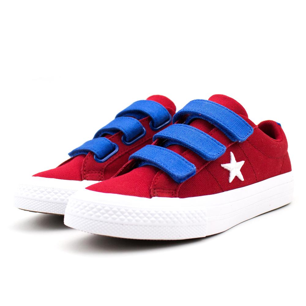 Converse 中大童休閒鞋-660765C 紅藍