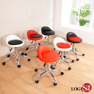 LOGIS邏爵  嚕嚕米升降工作椅 化妝椅 美髮椅 電腦椅