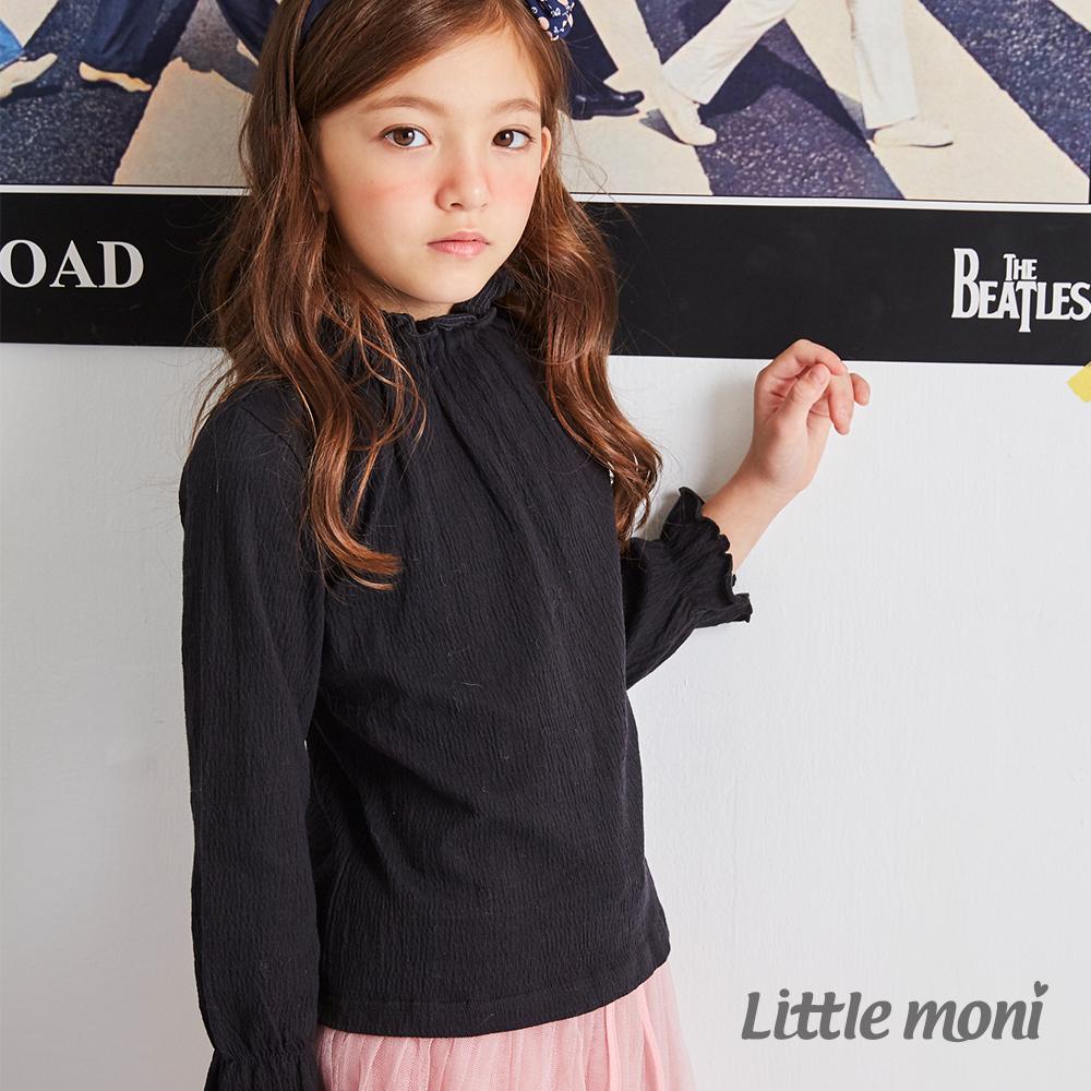 Little moni 荷葉高領上衣(共3色)