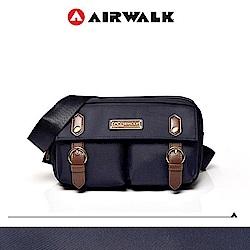 【AIRWALK】黑金系列 時光行者迷你側背包-藍