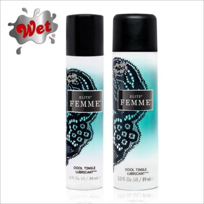 美國Wet FEMME水矽尊寵涼感長效型潤滑液兩入組