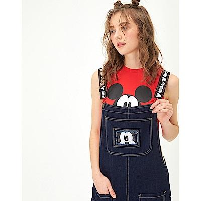 CACO-米奇款織帶吊帶褲-女【TDI018】