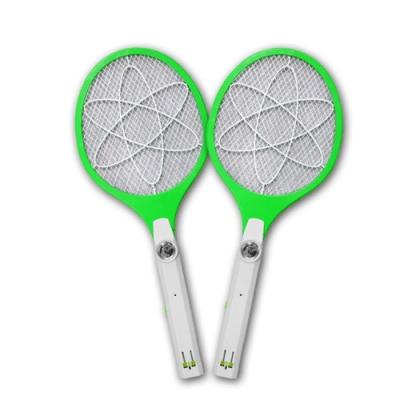 (2入組)【KINYO】小黑蚊剋星四層防觸電捕蚊拍電蚊拍(CM-2222)LED充電式