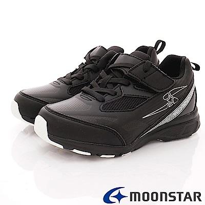 日本月星頂級競速童鞋 靜態防水系列 EI926黑(中大童段)