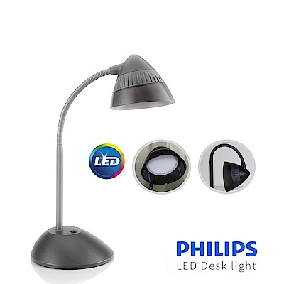 【飛利浦 PHILIPS LIGHTING】CAP 酷昊LED檯燈-( 黑 ) 70023