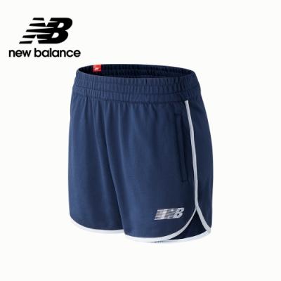 【New Balance】SPEED 左腳品牌字樣棉短褲_女性_深藍_WS03502NGO