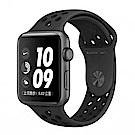 Apple Watch S3 Nike+42mm太空灰鋁金屬錶殼+黑色錶帶-MQL42TA