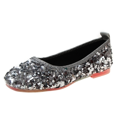KEITH-WILL時尚鞋館 歡樂單品萬紫千紅亮片鞋-銀