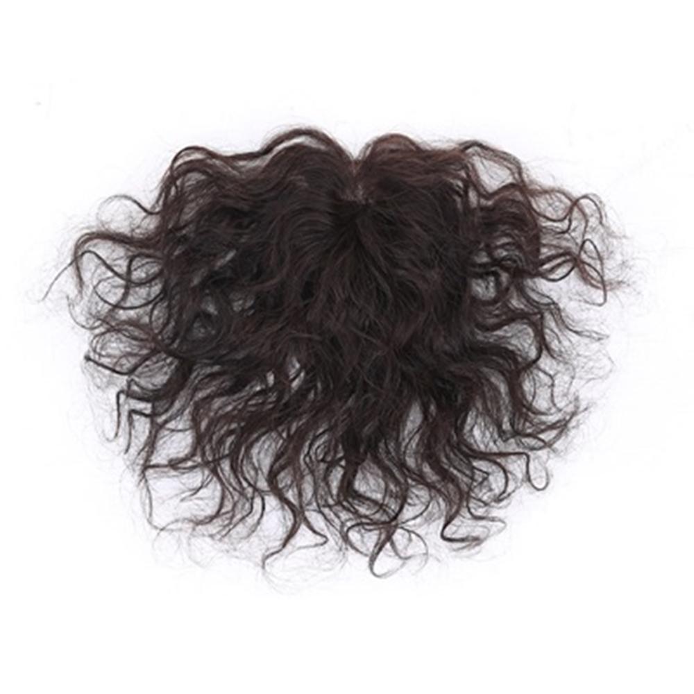 米蘭精品 假髮片真髮絲-短捲髮自然無痕增量女假髮母親節禮物73uh48