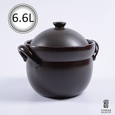 陸寶 洋風雙蓋陶鍋5號6.6L