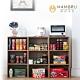 好購家居  日式簡約三層開放式木紋收納櫃 product thumbnail 1