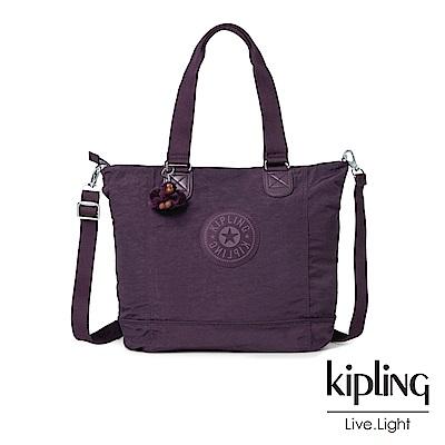 Kipling深紫素面手提包-SHOPPER C