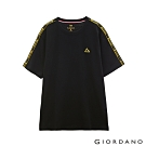 GIORDANO 男裝G-MOTION拼接織帶撞色運動T恤 -02 標誌黑