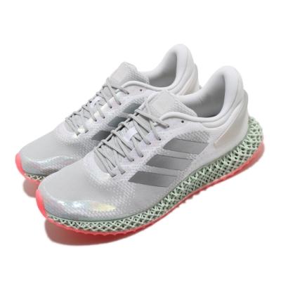 adidas 慢跑鞋 4D Run 1 運動 男鞋 愛迪達 3D列印 高避震 緩衝 路跑 銀 灰 FV6960