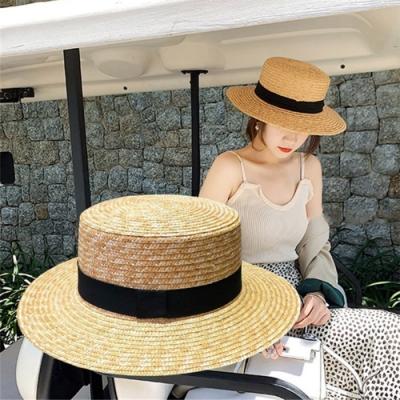【KISSDIAMOND】INS英倫風編織大帽檐遮陽帽(KDH-0308)