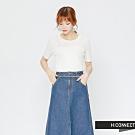 H:CONNECT 韓國品牌 女裝 - 修身薄針織短上衣 - 白(快)