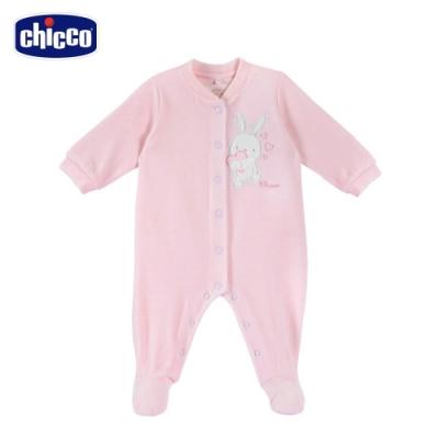 chicco-粉彩-剪毛絨前開兔裝-粉