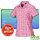 FIT 女新款 格紋吸排抗UV短袖襯衫_FS2202 粉紅色 product thumbnail 1