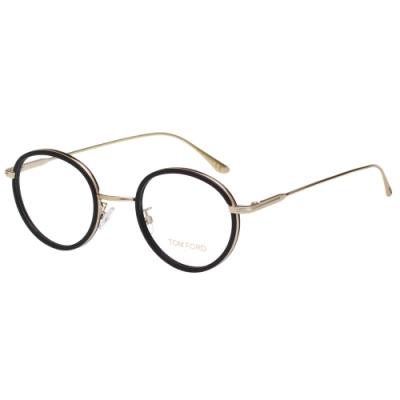 TOM FORD 復古 光學眼鏡(黑配金)TF5521K
