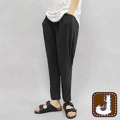 正韓 錐形打摺休閒男友長褲-(黑色)100%Korea Jeans