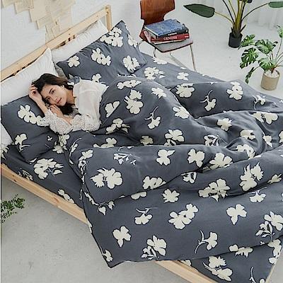 BUHO 100%TENCEL純天絲舖棉兩用被床包組-雙人加大(和花青居)