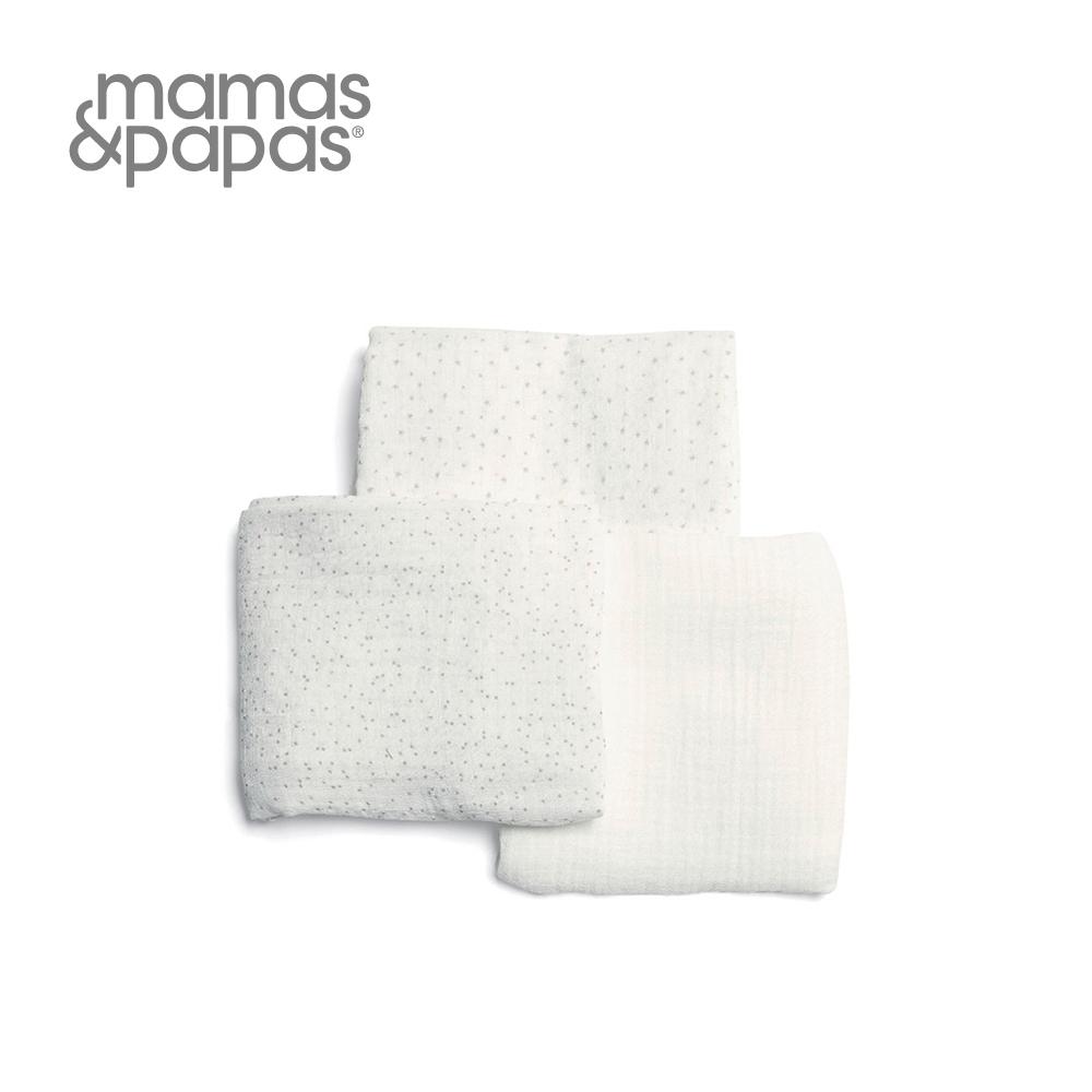 Mamas&Papas Muslin紗布巾3入組 米莉與波里斯-星沙糖霜