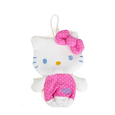 Sanrio HELLO KITTY人偶造型沐浴棉(玫瑰)