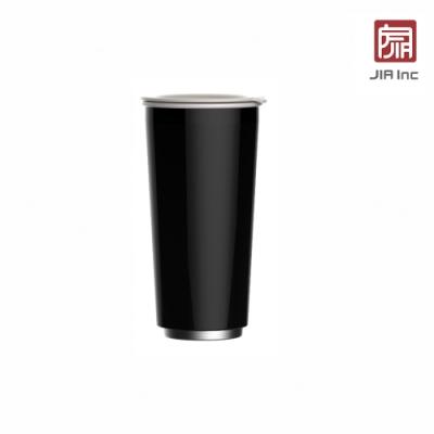 JIA Inc. 品家家品 虹彩鋼 雙層琺瑯塗層隨行杯470ml-黑