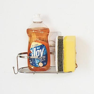 Home Feeling 瓶罐架/洗碗精架/菜瓜布架/304不鏽鋼/霧面無痕貼