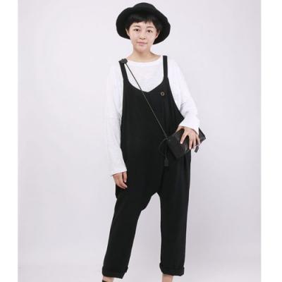 設計所在Style-原創設計背帶褲寬鬆顯瘦九分背帶哈倫褲