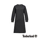 Timberland 女款深炭灰舒適圓領長版衛衣針織裙|B4403
