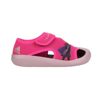 ADIDAS 女小童冰雪奇緣涼鞋-FROZEN 魔鬼氈 護趾鞋 愛迪達 迪士尼 愛莎 FV4652 桃紅紫