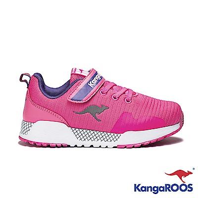 KANGAROOS 童 EVO 90 輕量運動鞋(粉紅)