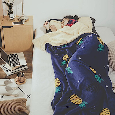 絲薇諾 旺旺來 法蘭羊羔絨睡袋毯(1.3kg)