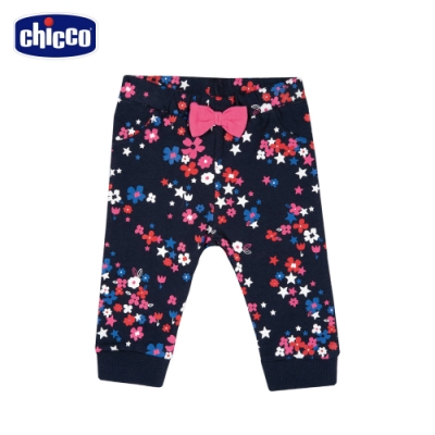 chicco-To Be BG-滿底印花朵+星星束口長褲