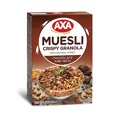 瑞典AXA 巧克力堅果穀物麥片 375g