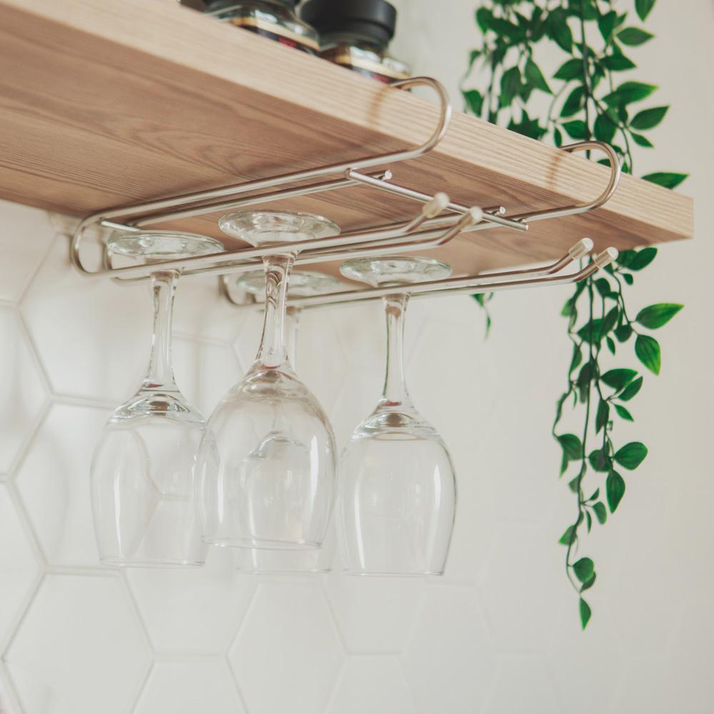 完美主義 不鏽鋼高腳杯架/吊掛層板-25x27.5x6cm