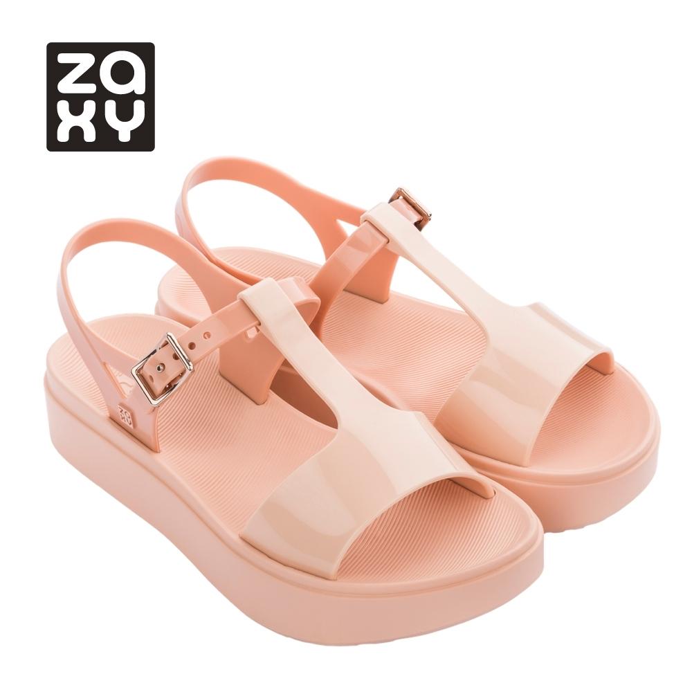 Zaxy ENERGY系列厚底造型涼鞋-粉膚
