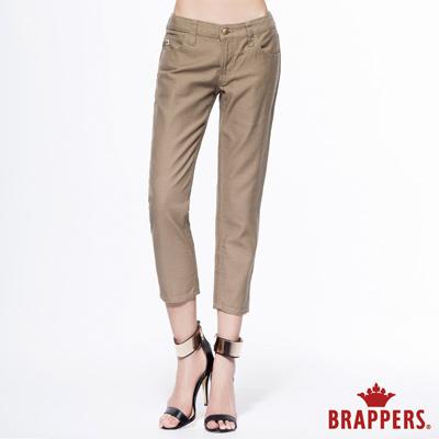 BRAPPERS 女款 Boy Friend Jeans系列-女用休閒七分反摺褲卡其