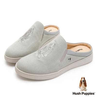 Hush Puppies 經典巴吉度穆勒鞋款-灰色