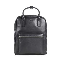 MARKBERG Melina 丹麥手工牛皮個性單色後揹包 手提包 後揹包包(極簡黑)