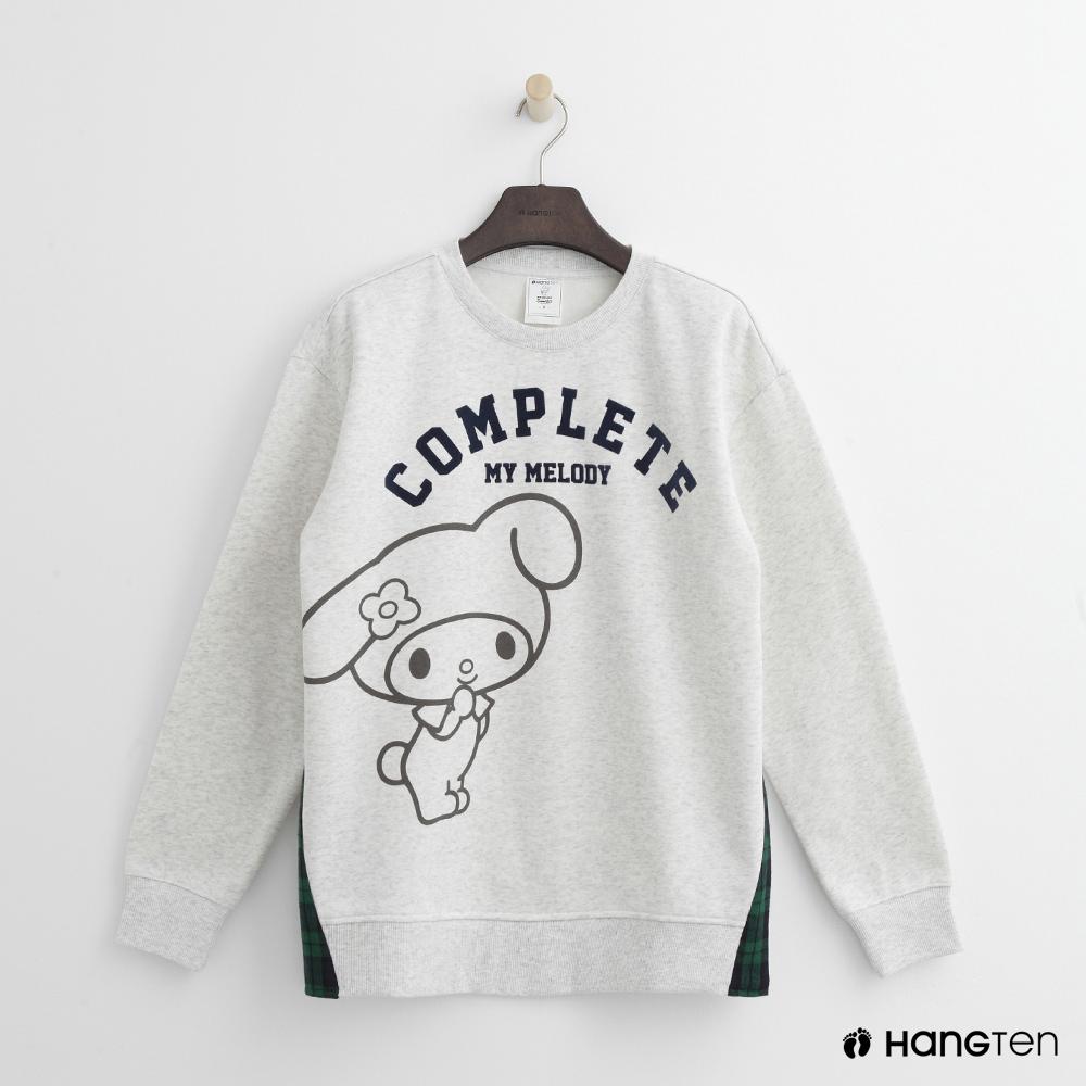 Hang Ten - 女裝 - Hello Kitty系列-側格紋拼接上衣-灰