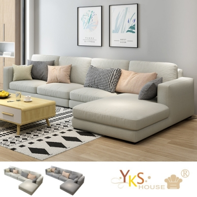 YKS-莉亞L型布沙發-獨立筒版(兩色可選)