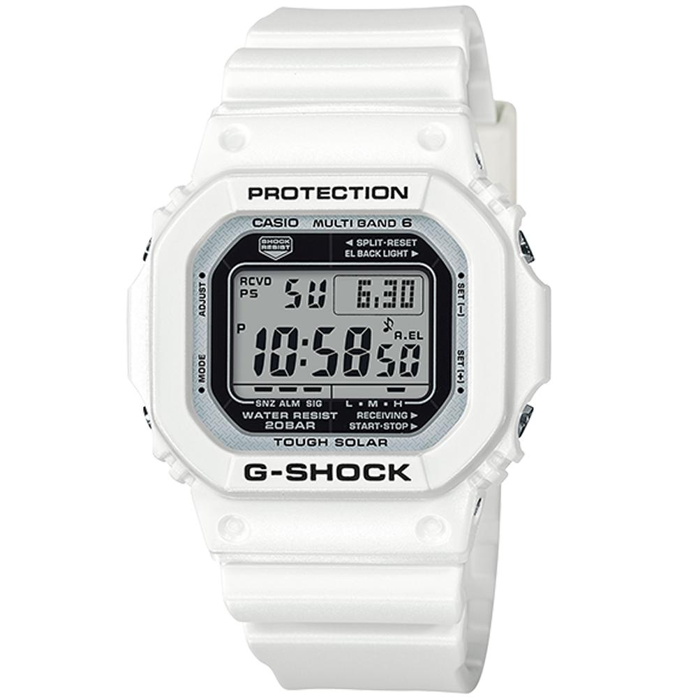 CASIO G-SHOCK 太陽能電波錶(GW-M5610MW-7)43.2mm