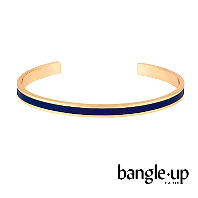 BANGLE UP 復古經典琺瑯鍍金開口手環 -藍