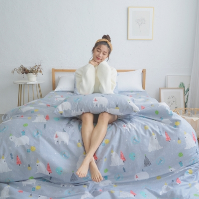 BUHO 天然嚴選純棉雙人舖棉兩用被套(6x7尺)-哈囉貝兒