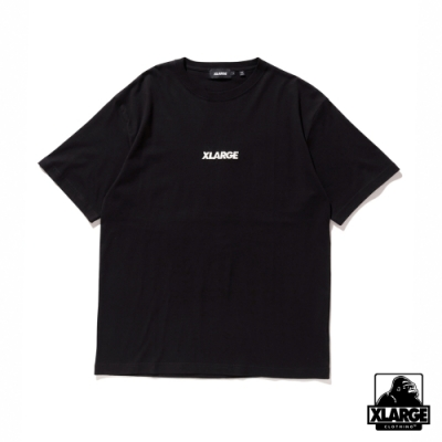 XLARGE S/S TEE EMBROIDERY STANDARD LOGO短袖T恤-黑